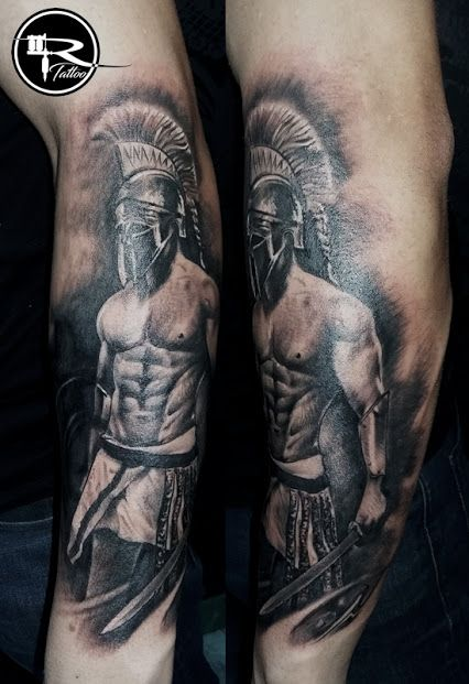 tattoo spartan, tattoo warrior, tattoo Ricardo, tatuaż wojownik