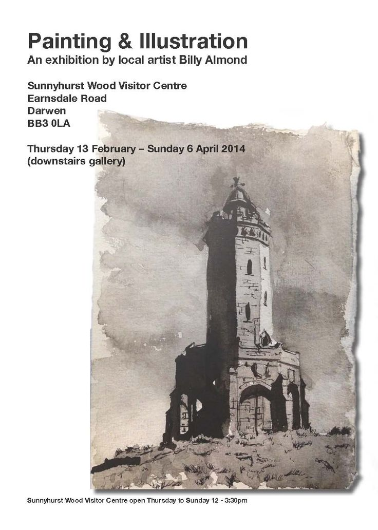 Paintings and illustrations by local artist Billy Almond Thurs 13 Feb – Sun 6 April 2014 – (downstairs gallery)