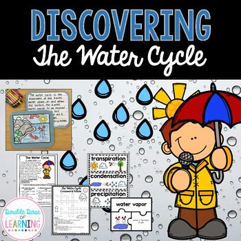 This has everything you need to teach the Water Cycle! Graphic organizers, reading comprehension workbooks, colorful vocabulary cards, writing prompts, Power Point and MORE!