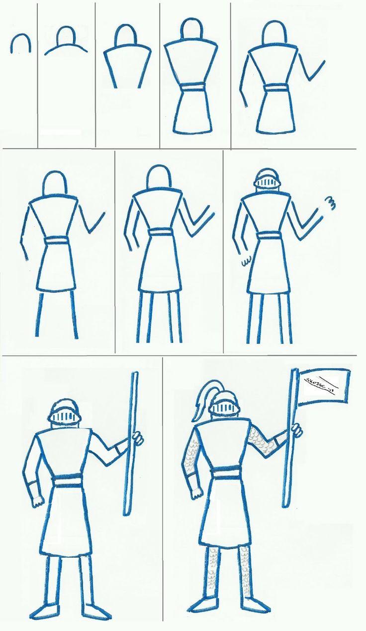 Easy Knight to Draw   Art class ideas