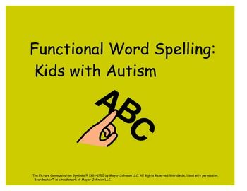 Functional Spelling for Kids with Autism $2.00
