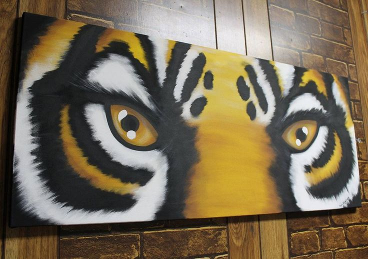 Tiger Eyes Painting on canvas FREE SHIPPING! by Sonyasartsandcrafts on Etsy