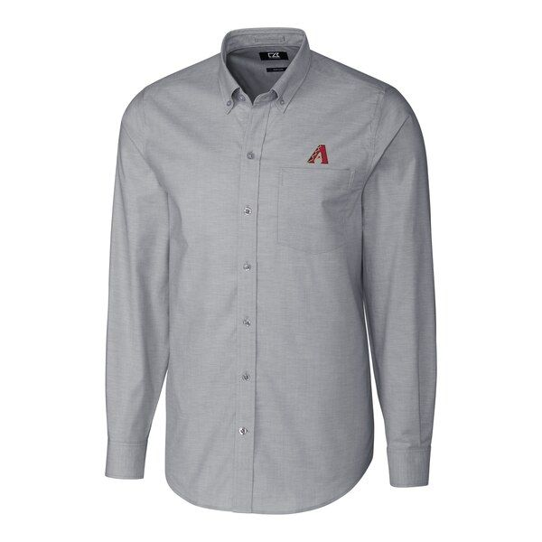 Arizona Diamondbacks Cutter Buck Big Tall Stretch Oxford Long Sleeve Button Down Shirt Charcoal Arizonadi Long Sleeve Shirts Mens Tops Button Down Shirt