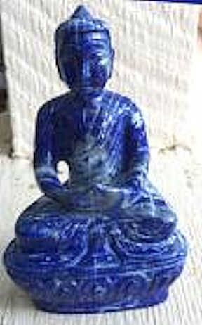What we have for sale is a genuine Lapis Lazuli Hand Carved Buddha.  This Buddha is a high grade Lapis Lazuli (top quality) from Afghanistan with golden pyrite through the Lapis Lazuli.   The weight of this Buddha is approx. 200 grams.  The Awakened One of truth and enlightenment.   This can be used for meditation, therapeutic purposes, feng shui, altar, blessings and more.