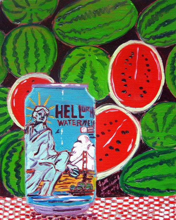 Beer Oil Painting of Hell or High Watermelon by 21st Amendment Brewery - Year of Beer 07/06