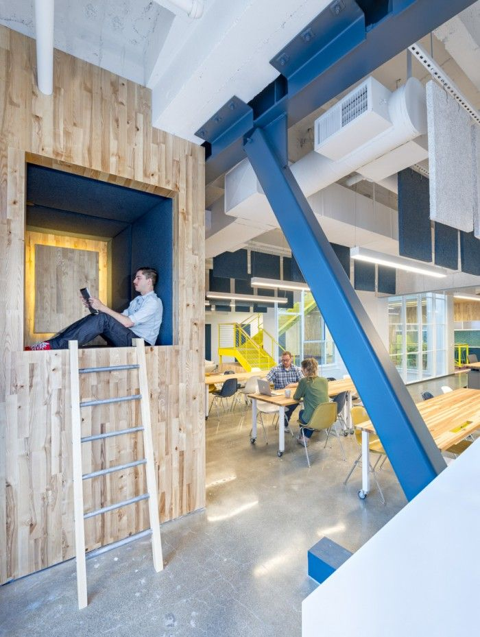 Verzameling van de meest creatieve en unieke lounge / privé werkplekken ter wereld! In deze ruimtes kunnen werknemers zich terug trekken