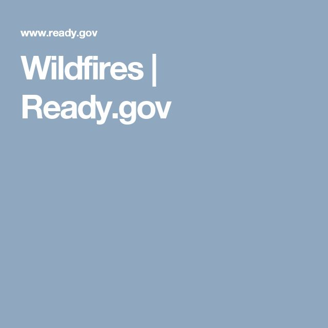 Wildfires | Ready.gov