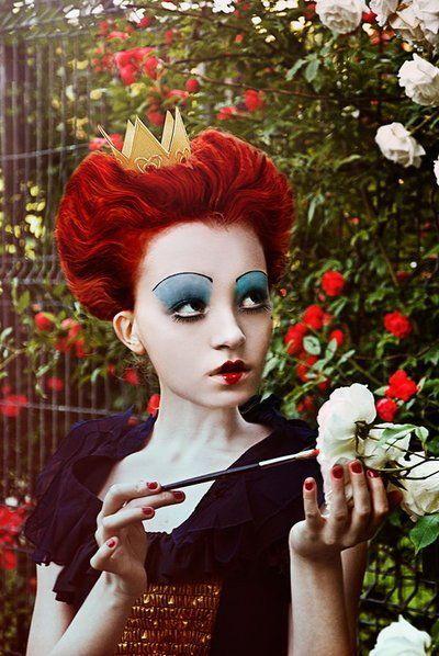 Alice im Wunderland Herzkönigin Kostüm selber machen   Kostüm-Idee zu Karneval, Halloween & Fasching