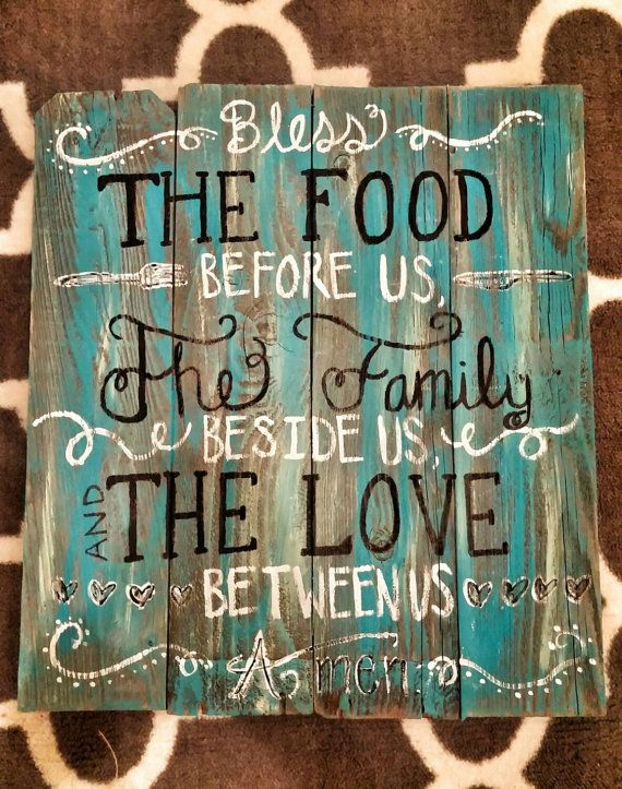 Beautiful Items Similar To Rustic Teal Kitchen Sign On Etsy