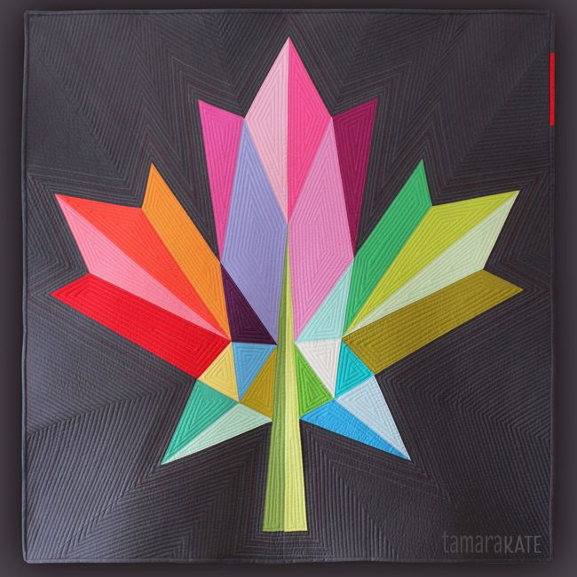 Maple Leaf quilt pattern by Tamara Kate | Canada 150 quilt