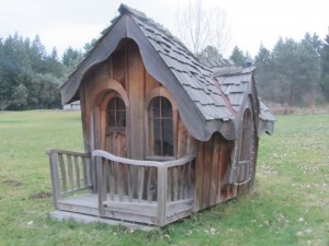 Storybook cottage playhouse