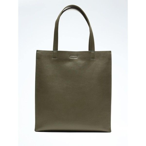 Banana Republic Portfolio Structured Leather Tall Tote ($138) ❤ liked on Polyvore featuring bags, handbags, tote bags, seaweed, laptop tote bag, leather handbag tote, leather tote purse, banana republic tote and structured tote