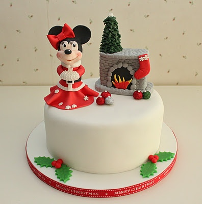 christmas cakes glasgow minnie mouse bridal shower mice drink cakes ...