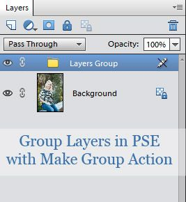 Tutorial:  How to group actions in PSE with free Make Group action.