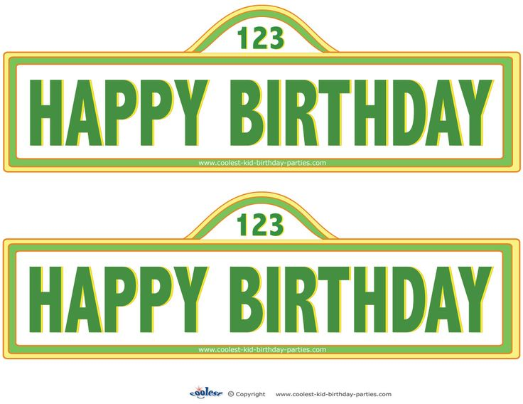 23 best images about austins first birthday ideas on pinterest printable sesame street sign decorations coolest free printables pronofoot35fo Choice Image