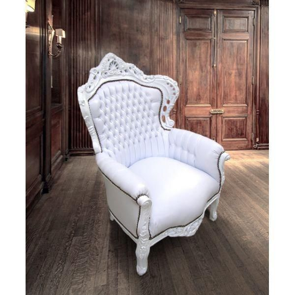 Barok Fauteuil Wit