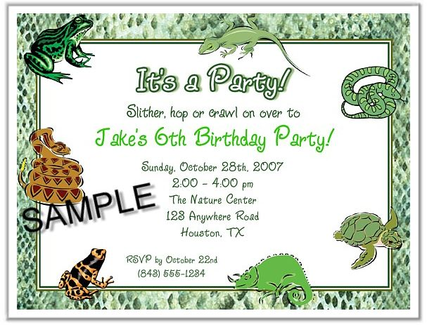 322 best Animal Party Invitations images – Reptile Invitations Birthday