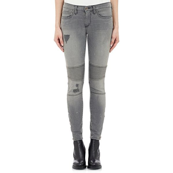 Grey skinny jeans ankle zip