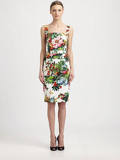 Dolce & Gabbana - Strawberry Print Dress - Saks.com