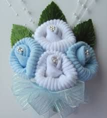 Image result for baby corsage made with socks