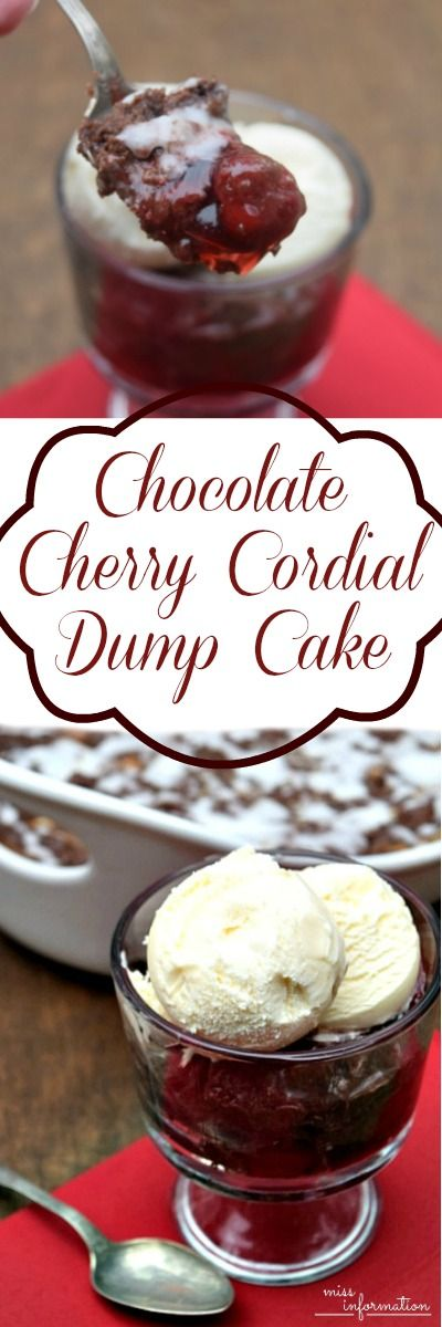 Cherry Cordial Chocolate Dump Cake Recipe it's easy to make and tastes so much like a cherry cordial, it's perfect for Valentines!!!