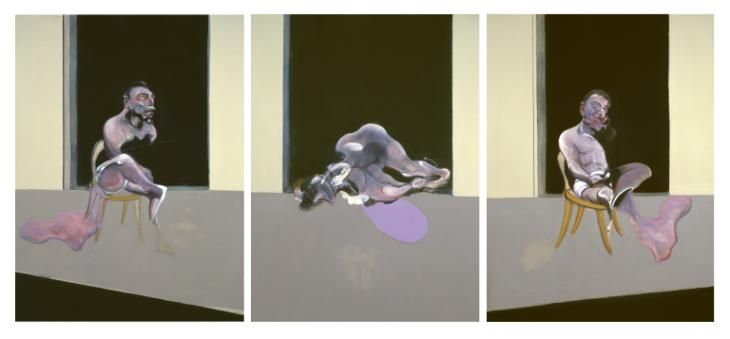 Francis Bacon 'Triptych August 1972', 1972 © Estate of Francis Bacon