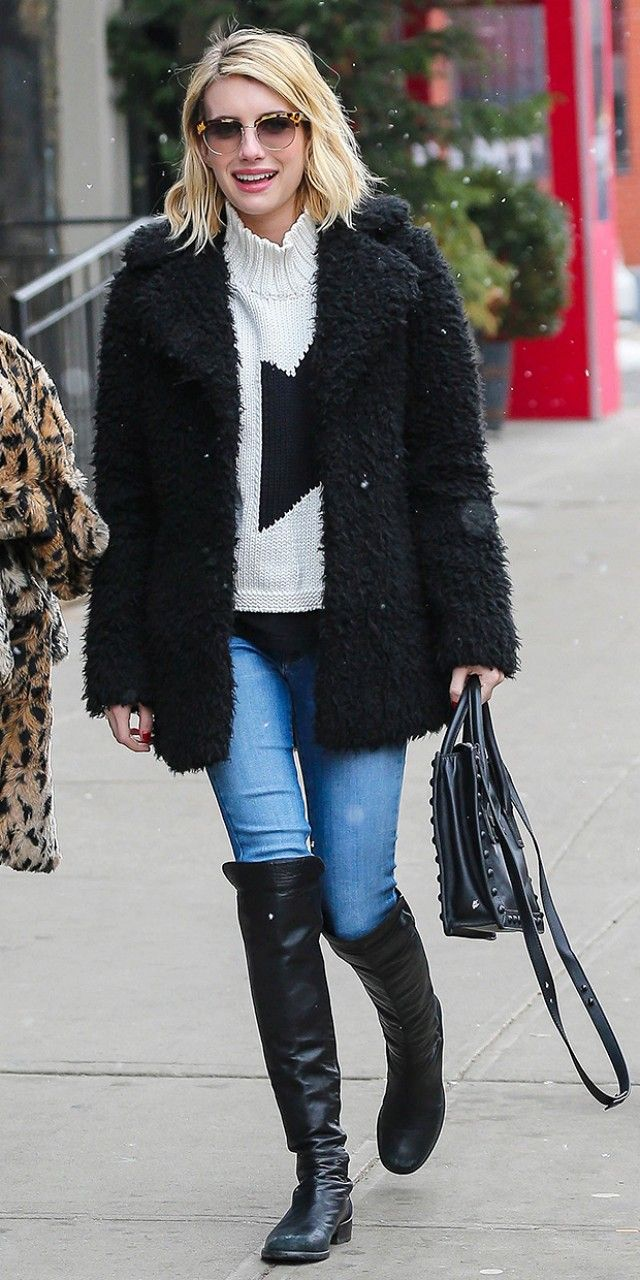 Cool+and+Cozy:+Emma+Roberts+Braves+the+NYC+Snow+in+Winter+Must-Haves+via+@WhoWhatWear