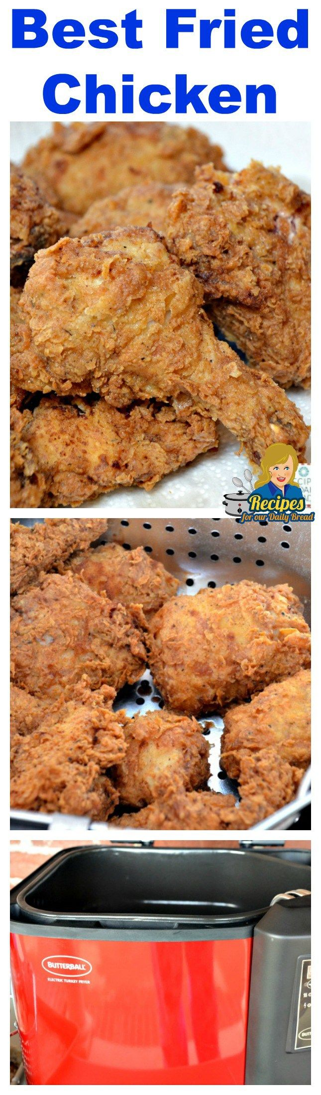 Best Fried Chicken - If you like Fried Chicken, you will love this crunchy, juicy, flavorful Best Ever Fried Chicken Recipe! #fried chicken #chicken #best fried chicken
