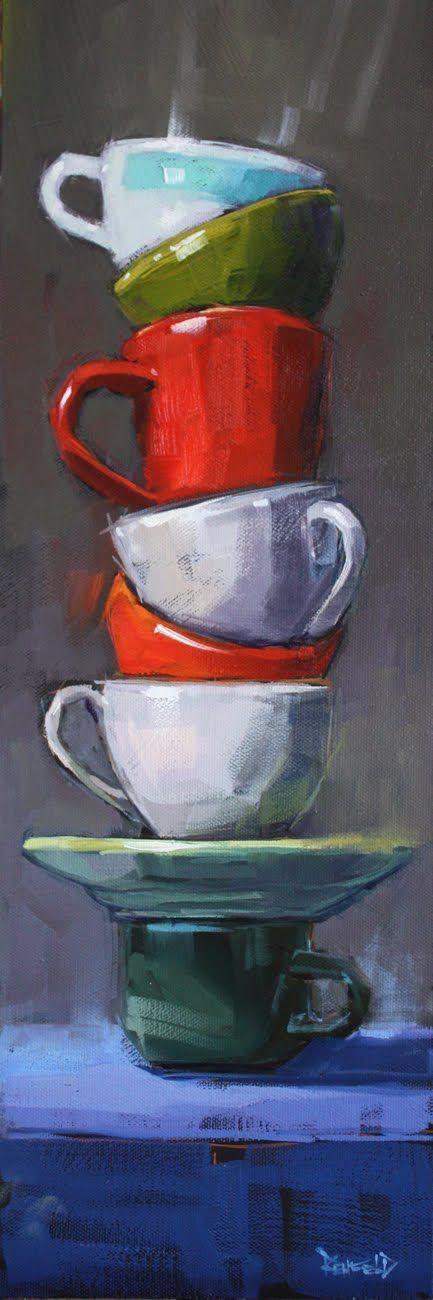 Cathleen Rehfeld • Las grandes pinturas al óleo originales: Balance de la serie: Pila # 1 - vendidos: