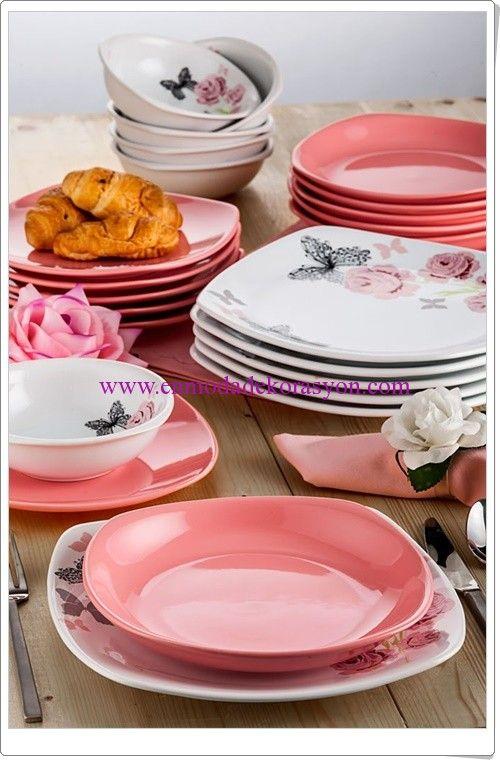 Keramika Köşem Parça 24 Parça Yemek Takımı