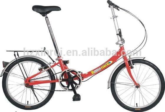 2015 comercio al por mayor de aleación de bicicletas plegables de una sola velocidad 16 pulgadas plegable bke