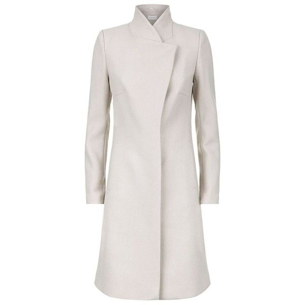 Reiss Hutton Wrap Coat (3 375 SEK) ❤ liked on Polyvore featuring outerwear, coats, slim fit coat, reiss coat, wrap coat, reiss and slim coat