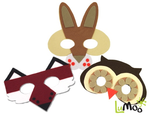 Make your own Woodland Masks Kit from LuMoo.