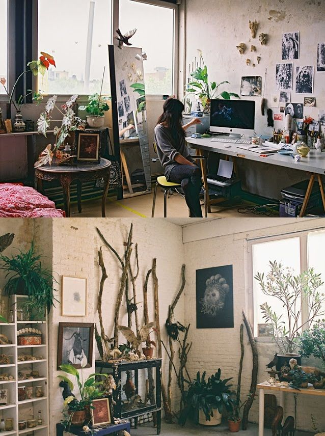 The art studio / home of Fia Cielen