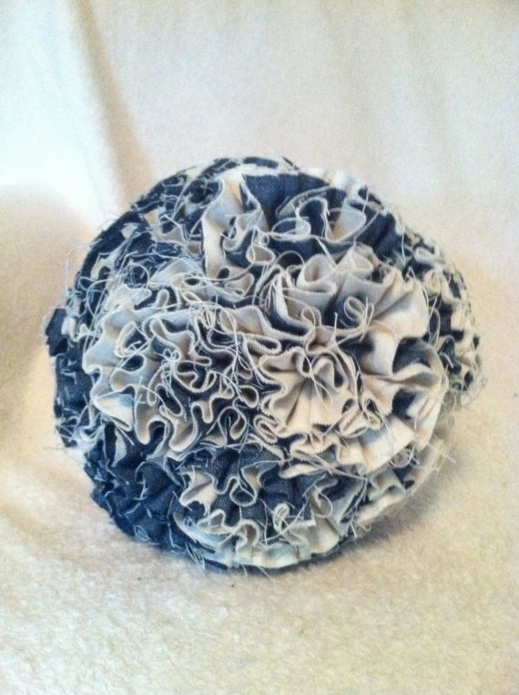 A ball of denim. Where do people come up with these creative ideas?