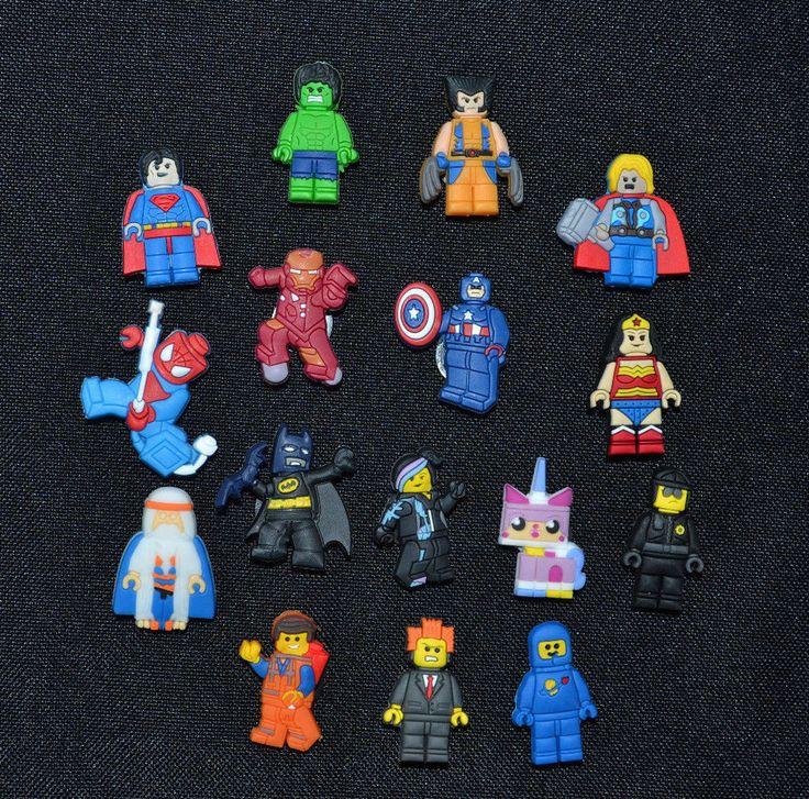 16pc Set Lego Movie Chararcters Jibbitz Charm Fits Wristbands & Crocs USA SELLER | Clothing, Shoes & Accessories, Unisex Clothing, Shoes & Accs, Unisex Accessories | eBay!