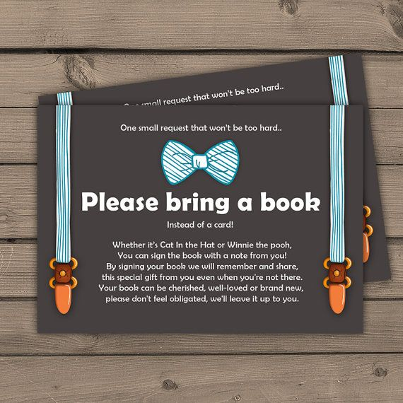 baby shower bring a book card little man baby boy oh boy baby shower