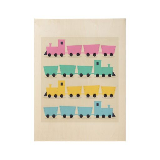 Lovable Trains wooden Kids poster