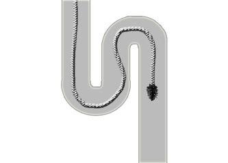 Déboucher un siphon et désobstruer les canalisations à l'aide d'un furet. En savoir plus: http://www.bricoleurdudimanche.com/fiches-bricolage/plomberie-et-sanitaires-75/deboucher-un-siphon-et-desobstruer-les-canalisations-a-l-aide-d-un-furet.html