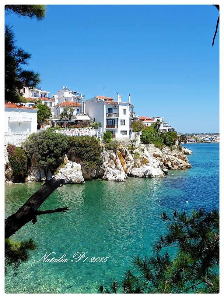Photo Mania Greece: Skiathos Greece,  View from Plakes.