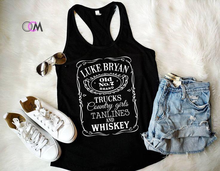 Luke Bryan Concert Tank, Luke Bryan Whiskey Shirt, Whiskey Tank, Country Concert Tank, Country Girl Tank by 1OneCraftyMomma on Etsy
