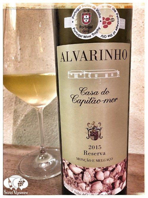 Score 85/100 Wine review, tasting notes, rating of Quinta de Paços Casa do Capitão-Mor Reserva Alvarinho. Description of aroma, flavors. Join the experience
