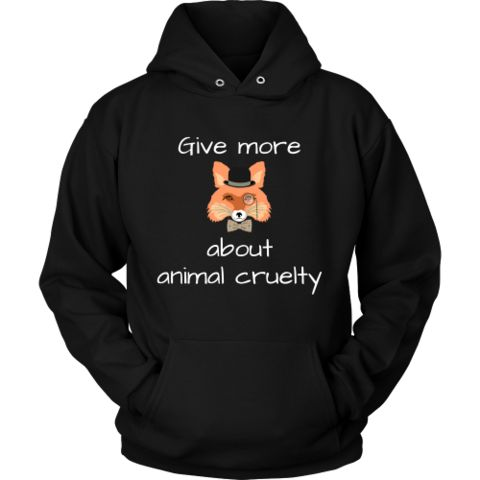 """Give more """"fox"""" about animal cruelty - hoodie"""
