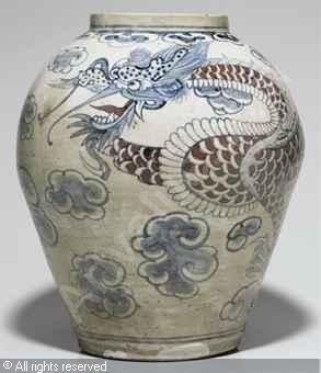 korean art choson   Dragon Jar sold by Christie's, More Pins Like This One At FOSTERGINGER @ PINTEREST No Pin Limitsでこのようなピンがいっぱいになるピンの限界