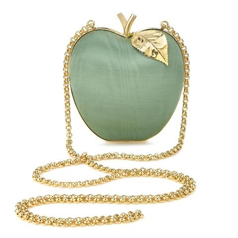 Celadon Moire Apple Clutch Anya Hindmarch Handbags