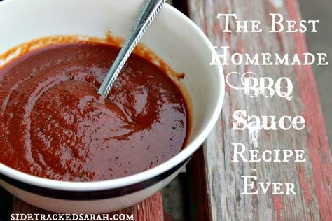 Easy BBQ Sauce Recipe -It's actually a very easy BBQ sauce recipe to make.  It's a little sweet, yet a little tangy and just slightly spicy.  If you don't like the spice, reduce some of the pepper and leave out the Tabasco Sauce.