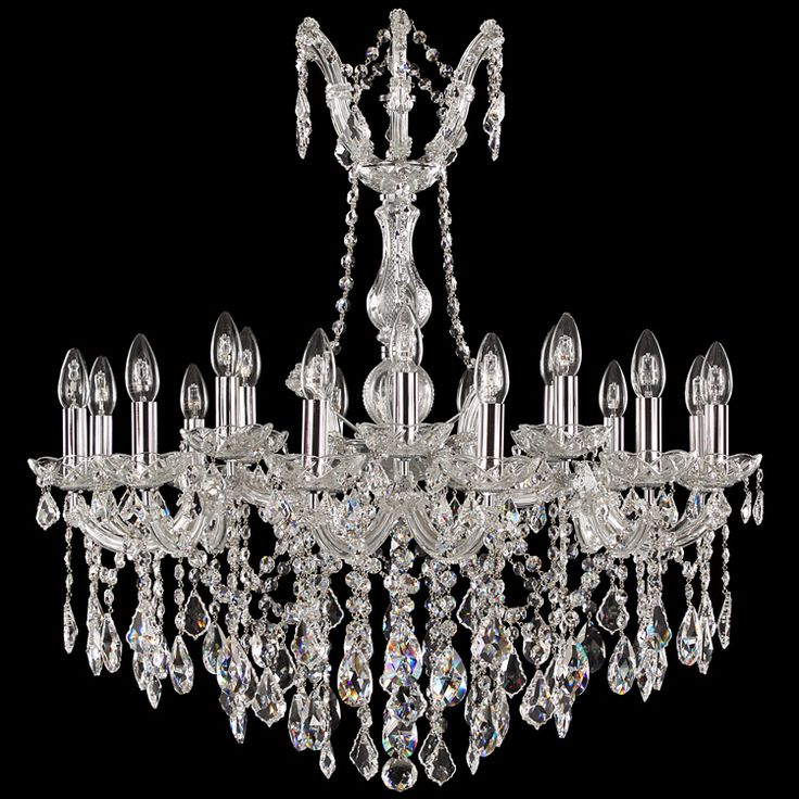 #MariaTheresa #chandelier 18 lights fitted with #asfour crystal color, #chrome trimmings.