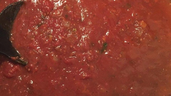 Grandma Maggio handed down her recipe for a sweet, garlicky tomato sauce with lots of fresh mushrooms and basil, and a hint of red wine.