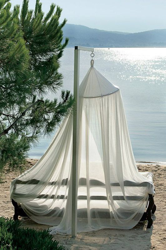 Relaxing on the beach at the Ekies All Senses Resort in Halkidiki ♡