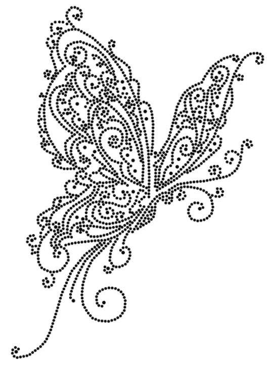 mooie vlinder hotfix embroidery pattern string art Fuse Box